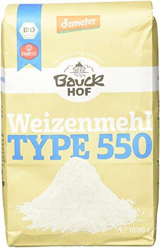Bauckhof Weizenmehl hell T550 Demeter, 8er Pack (8 x 1 kg)