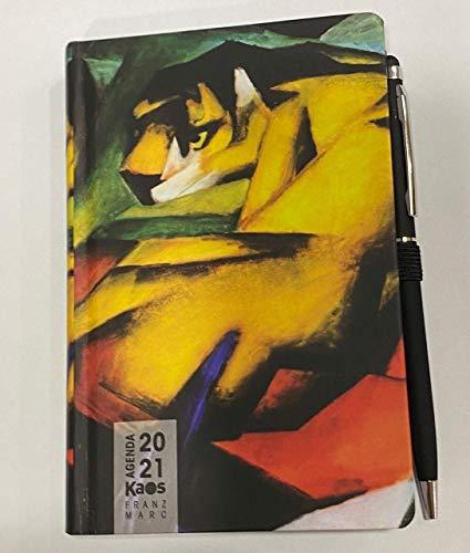 Agenda settimanale Kaos pittori misura 13x21 con penna: quadro a scelta