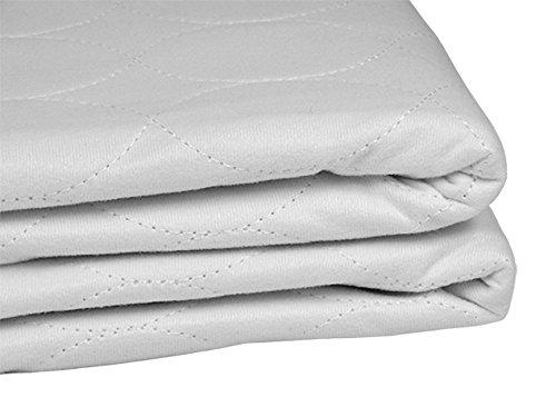 Empapador para cama, Protector de cama lavable, Impermeable, Muy absorbente, 4 capas, 135 x 85 cm, color Blanco