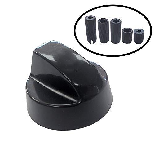 four et plaque de cuisson noir boutons de contrôle et adaptateurs 4 x Candy CDA Caple cuisinière