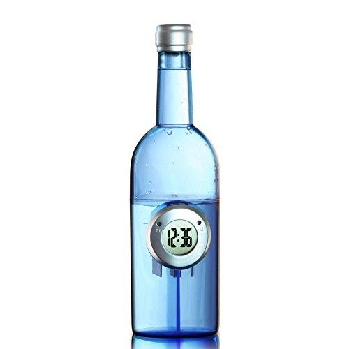 Perfectii Wasseruhr Wecker, Tischuhr Water Power Wasserenergie mit Datum