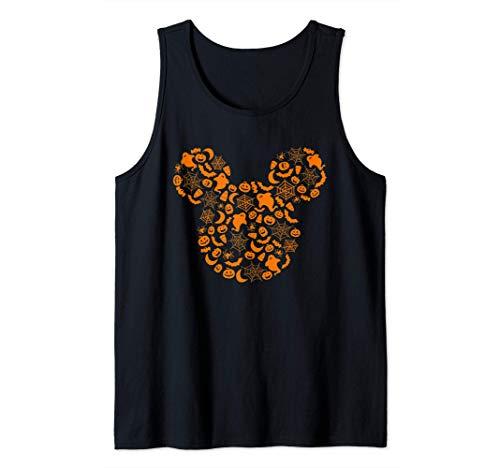 Disney Mickey Mouse Halloween Silhouette Camiseta sin Mangas