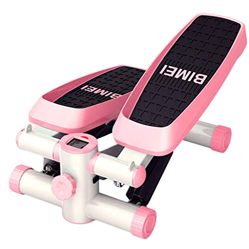 GULU Mini Stepper, Heim Mute LED-Anzeige, Abnehmen Schöne Beine Der Hüfte Anheben Dünne Arme Multifunktionale Trainingsgeräte Für Männer Frauen,Rosa
