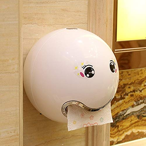 Kylewo Plastik Tissue Box,Toilettenpapierhalter Box Ball Shaped Nette Bad Wc wasserdichte Toilettenpapier Box Rollen Papierhalter für Bad