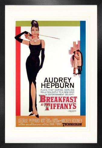 1art1 Desayuno con Diamantes Audrey Hepburn Póster (91 x 61cm) con Marco MDF (120 x 80cm)