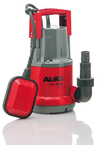 AL-KO Klarwasser-Tauchpumpe TK 250 ECO, 250 Watt Motorleistung, Fördermenge max. 6.000 l/h, Flachabsaugen bis 5 mm