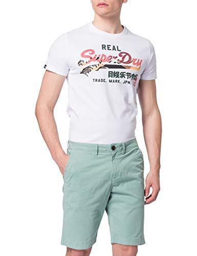 Superdry Mens INTERNATIONAL Chino Shorts, Fresh Mint, 28