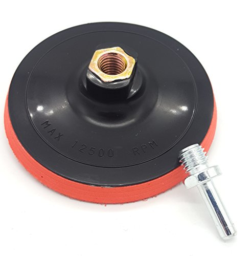 Schleifteller 125mm M14 Gewinde mit Dorn für die Bohrmaschine und Akkuschrauber Klett auch für Exzenter Schleifmaschinen geeignet