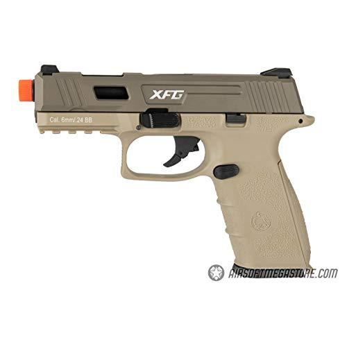 Lancer Tactical ICS XFG Gas Blowback Airsoft GBB Pistol TAN 328 FPS