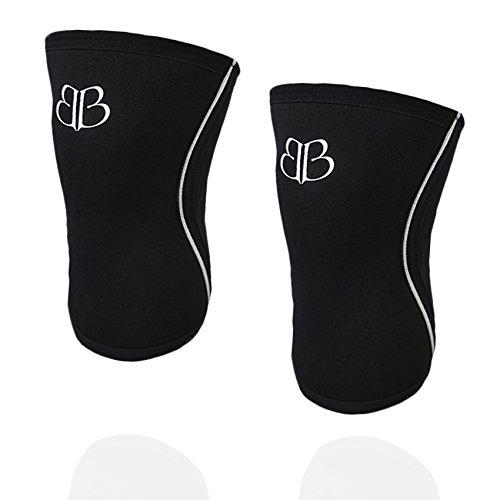 RODILLERAS Black Lifter Banbroken (2 unds) - 5mm Knee Sleeves - Halterofilia, deporte funcional, CrossFit, Levantamiento de Pesas, Running y otros deportes. UNISEX. (M)