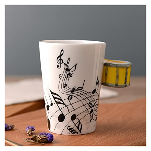 JSJJAQW Taza de Agua Copa de cerámica Creativa Leche Breakfast Cupoffice Taza Nota Instrumento Musical Taza de Agua Taza Taza Tazas Tazas de café (Capacity : 250ml, Color : 31)