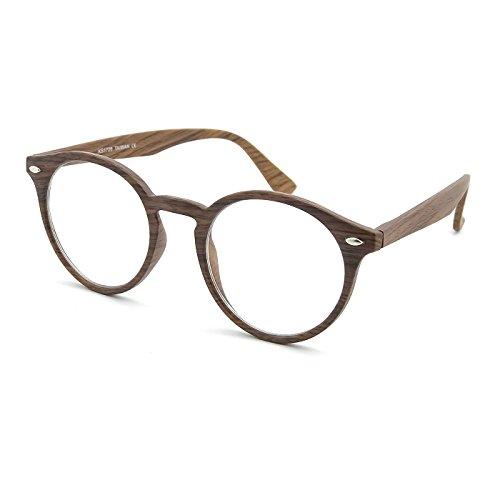 Kiss Neutrale Brille Line WOOD - style MOSCOT mod. WAVE ICONIC - optischer rahmen EFFECT WOOD mann frau VINTAGE - LIGHT WOOD