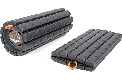 Brazyn Morph Foam Roller - for Home, Gym, Office, Travel, Athletes - Collapsible & Lightweight Roller for Trigger Point Massage, Myofascial Release (Bravo Series (Traditional) - Midnight)
