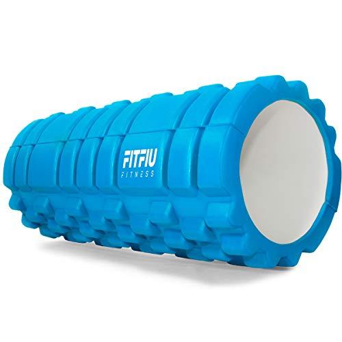 Fitfiu -Roller O Rodillo de Ejercicios, Unisex Adulto, Azul, 40X20X20