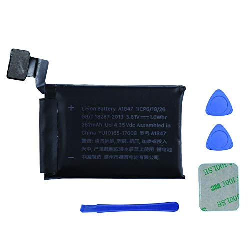 Swark akku A1847 Kompatibel mit Smartwatch Apple Watch Series 3 38mm GPS Version + Tools