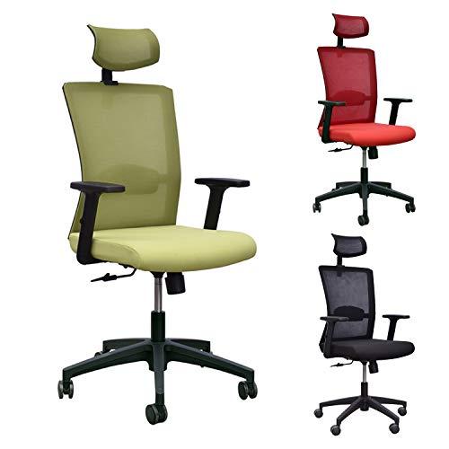 Yellowshop. - Poltrona Ufficio Sedia Girevole con rotelle per scrivania Studio Modello Vega (Verde)
