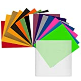 Angel Crafts 12' x 10' Heat Transfer Vinyl Sheets (16 Pack) w/Teflon Sheet for T Shirts, Hats, Clothing - Best Iron On HTV Vinyl for Silhouette Cameo, Cricut or Heat Press Machine Tool