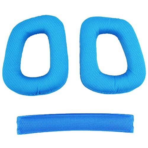 Ersatz Ohrpolster Bügelpolste Set Für Logitech G430 G930, aus Eiweiß Leder, ergonomischer Design - Blau