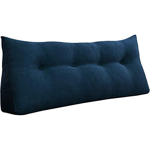 VERCART Wedge Pillow Bed Wedge Pillow Sofa Rückenlehne Kopfkissen,Keilkissen, Rückenkissen, Fernsehkissen, Ergokissen Weich und Bequem aus Softer Microfaser,Waschbar,Marineblau