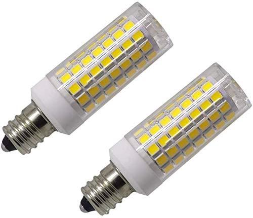 Led E12 led Light Bulb 120V, 6000K Daylight White 8W Led E12 Candelabra Screw Base, Xenon T4 JD Type led Halogen Bulb Replacement 75W or 100W with 850lm-2packs (Daylight White 6000K)