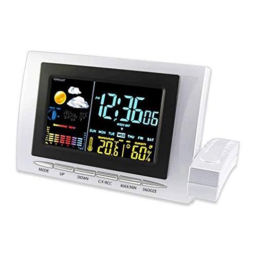 ZouYongKang Reloj de Día de Alarma de Calendario Digital, Luz Automática y Dimmable LCD LCD LCD Temperatura de Retroiluminación Pantalla de Pantalla de Pantalla, para una visión Extraordinaria Extra
