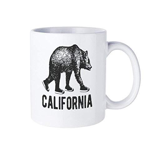 Camisa, camisa, camisa de estado, camisa de oso para niños, camisa, camisa de niños, regalo de niños, camisa de niño, camisa de vaca, camisa de verano, taza de café, California Bear Zoo, taza de cerám
