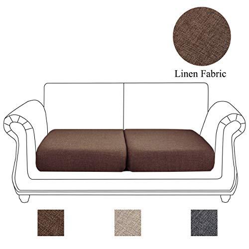 Funda de cojín de tela de lino para sofá, sofá, sofá, muebles, funda protectora para silla, asiento de sofá, sillón de dos plazas, suave, antideslizante, antiarrugas y antiadherente.