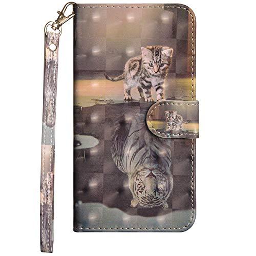 Dclbo Hülle für Samsung Galaxy J3 2016 / J320,Handyhülle Tasche Schutzhülle Leder Brieftasche Case Lederhülle Magnet Bunt Flip Klapphülle Handytasche für Samsung Galaxy J3 2016 / J320 - #6 Muster