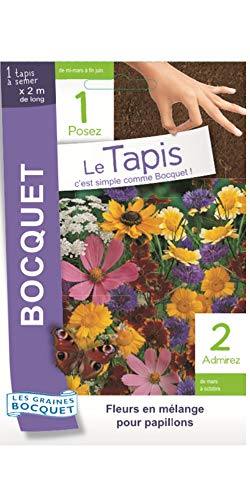 Les Graines Bocquet- Tapis de graines de Fleurs en mélange pour papillons- Graines potagères à semer