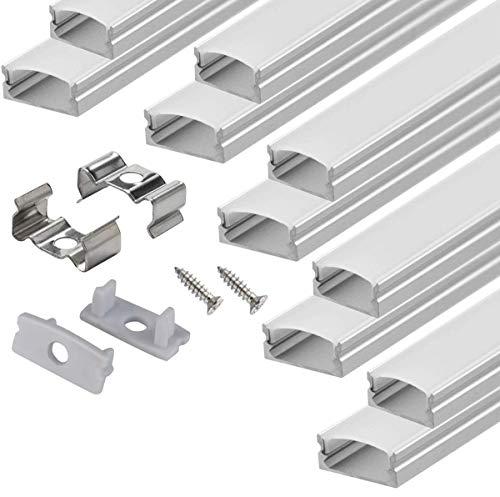 ledアルミニウムプロフィール,10個入り1メートル長テープライト 取り付け用のアルミ形材シェル放熱保護アクセサリーがそろっている