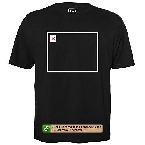 Broken Image - Herren T-Shirt für Geeks mit Spruch Motiv aus Bio-Baumwolle Kurzarm Rundhals Ausschnitt, Größe S
