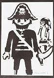 Poster Click Pirata Playmobil Grafiti Hecho a Mano - Handmade Street Art - Artwork