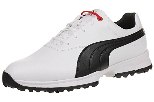 Puma Golf Ace Leather Men Golfschuhe Golf 188658 01 white, pointure:eur 40.5