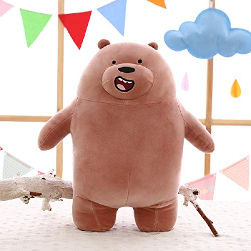 Kawaii Oso Panda de Peluche de Juguete muñeca de Oso de Dibujos Animados Regalo de cumpleaños para niños Almohada de Felpa decoración de habitación Super Suave Felpa 60cm B