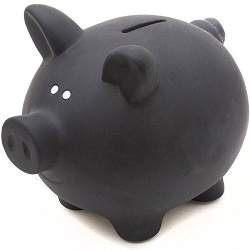 GOODS+GADGETS Sparschwein aus Keramik zum Beschriften mit Kreide - Kreidetafel Spardose Sparbüchse