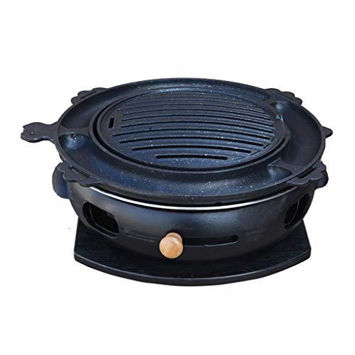 Parrillas eléctricas de exterior Parrillera, 34cm, se permite fumar en los hogares de parrilla, carbón de leña de hierro fundido grande barbacoa carne Estufa, al aire libre, cubierta 9 estilos