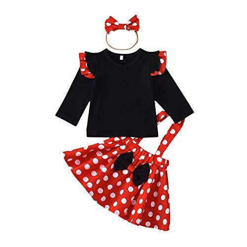 Recién Nacido Infantil Bebé Niña Disfraz de Minnie Mouse Camisa de Algodón...