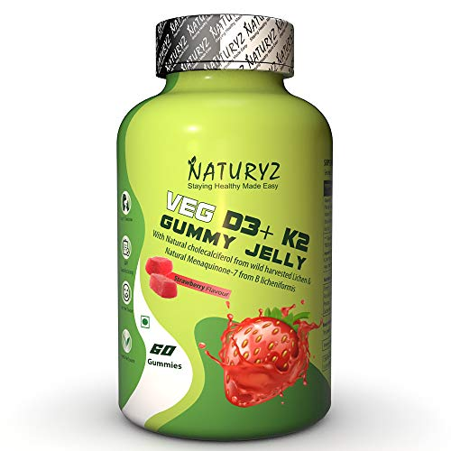 Naturyz Vegetarian D3+K2 Gummy Jelly for heart health and...