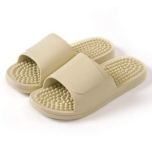 QPPQ - Pantofole unisex per uomo/donna, con suola morbida, per il bagno, antiscivolo, colore: verde pisello