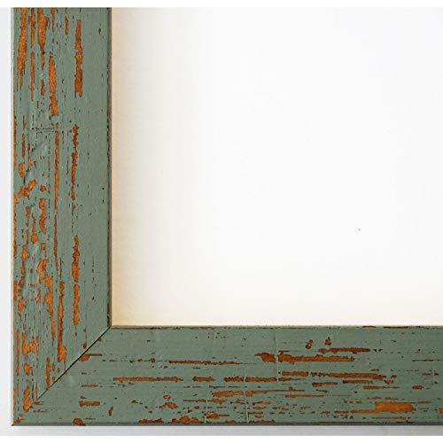 Online Galerie Bingold Bilderrahmen Türkis Grün 15x20-15 x 20 cm - Modern, Shabby, Vintage - Alle Größen - handgefertigt - WRF - Cremona 3,0