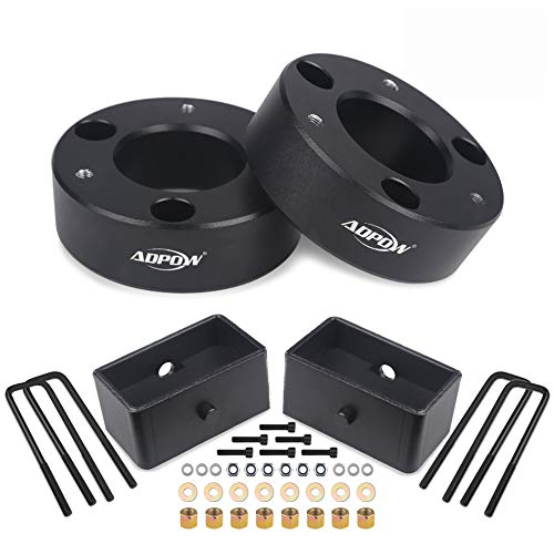 Leveling Kit, ADPOW 3' Front and 2' Rear Leveling Lift Kit for 2007-2019 Chevy Silverado 1500 Sierra GMC 1500 Lift Kit