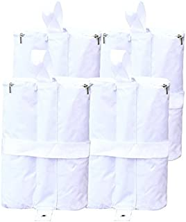 ABCCANOPY Tent Weight Bags, Sand Bag for Canopies, Tents, Awnings - 4-Pack of Weight Bags (White)