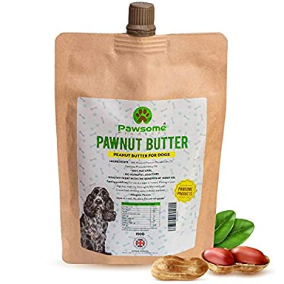 Pawsome Products Peanut Butter for Dogs with added Hemp Oil | 100% Natural, NO Additives - free from added Salt, Sugar & Sweeteners | Pawnut Butter | Made in UK | 150g