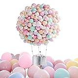 Globos de Cumpleaños, Globos pastel, globos boda,100 Piezas kit globos Balloons Color Latex Balloon...