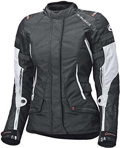 Held Motorradjacke mit Protektoren Motorrad Jacke Molto Damen Textiljacke GTX schwarz/weiß 3XL, Tourer, Ganzjährig