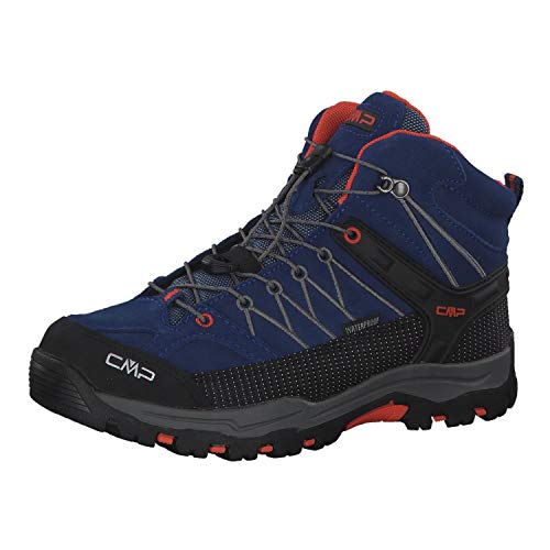 CMP Kids Rigel Mid Shoe Wp Trekking- & Wanderstiefel, Blau (Marine-Tango 05md), 35 EU