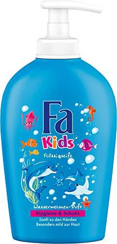 FA KIDS Flüssigseife Hygiene & Schutz mit Wassermelonen-Duft, 6er Pack (6 x 250 ml)
