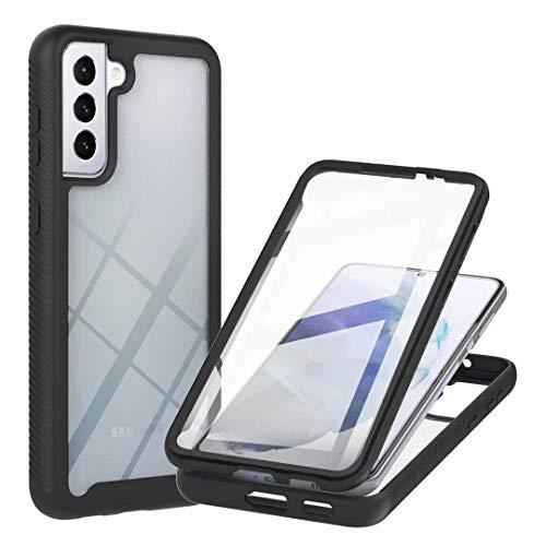 Funda para iPhone 12 Mini, 360 grados de cuerpo completo con protector de pantalla integrado, carcasa rígida de ajuste delgado + suave TPU resistente a los golpes caso para iPhone 12 Mini negro