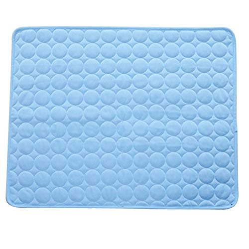 JINSUO NWXZU Pet Cushion Summer Pet Cooling Mats For Dogs Summer Dog Bed For Small/Medium/Large Dogs/Cats Pet Cool Sofa Cushion Mattress (Color : Blue, Size : 50x40cm)
