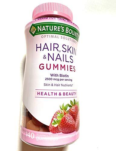 Gummies Hair Skin Nails Nature's Bounty - 140 Gummies